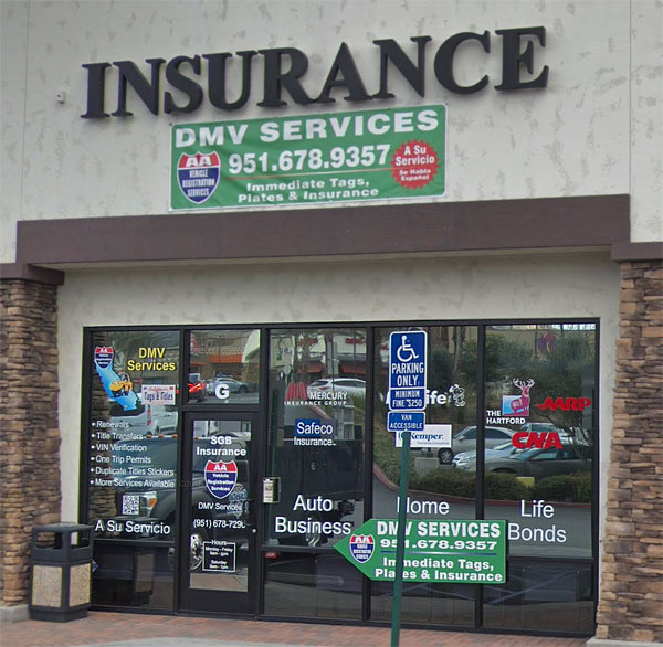SGB Insurance Services, Inc. Outside Store Front