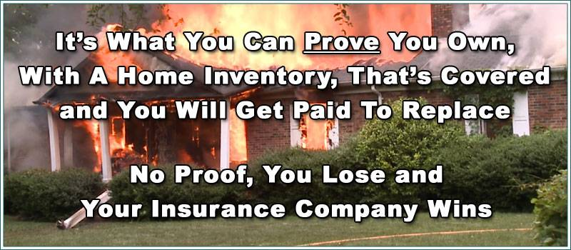 Home Inventory Wins With Insurance Company