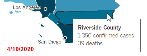 COVID-19 Riverside County Data